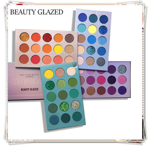 BEAUTY GLAZED Color Board palettes 60 Color with 4 Board COS Stage Pearl Makeup Eyeshadow Palette Cosmetic