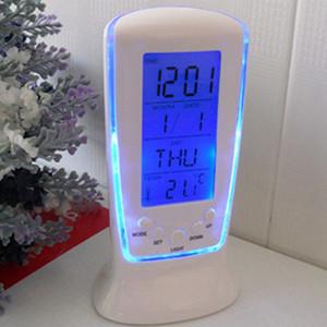 LED Digital Alarm Clock With Blue Backlight LCD Display Calendar Thermometer Desk Clock Reloj Despertador Electronic Watch