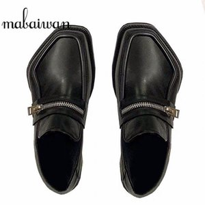Mabaiwan Fashion Design Women Autumn Party Loafers Slip On Square Toe Heels Shoes Woman Dress Party Footwear Loafer Female Shoes