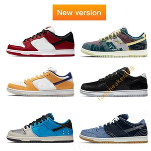Nike SB Dunk Low Community Garden Instant Skateboards Sneakers Fashion Immediata Skateboards Prm Sashiko uomo di alta qualità delle donne Sneaker Basso pattini casuali G Size 36-46