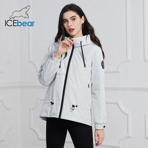IceBear Frauenjacke mit einer Haube stilvolle lässige Frauen Parka Frauen Frühlingskleidung Marke Kleidung GWC2023D 201007