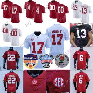 Alabama Crimson Tide футбол Джерси NCAA College Исайя Buggs Кристиан Миллер Джо Namath Алекс Leatherwood Джоб Харрис Патрик Сертейн II