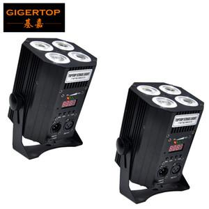 trasporto libero par DJ può 4x18W 6 colore della batteria di controllo IR alimentato DMX wireless uplighting Wireless Cube LED PAR lattina