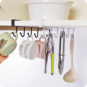 Kitchen Cupboard Storage Rack hook Cupboard Shelf Hanging Hook Closet wardrobe Clothes Glass Mug Organizer Shelf Hanger Storage