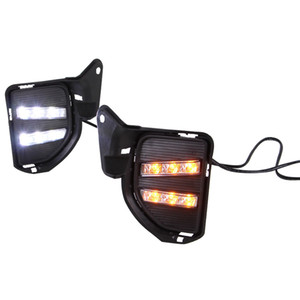 Car Rear Bumper Lights for 2014 - 2016 Toyota Hiace LED brake light Day Running Lights DRL Fog Lamp Tricolor