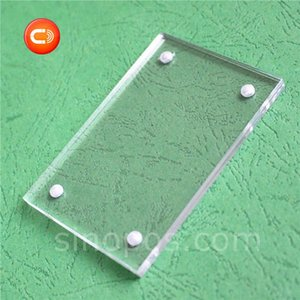 Magnet Combined Acrylic Sign Holder Flat, magnetic horizontal clear plastic frame photo A5 A4 tag card poster table desk display