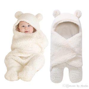 Autumn and Winter of 2019 Newborn Baby Boys Girls Cute Cotton Plush Receiving Blanket Sleeping Wrap Swaddle