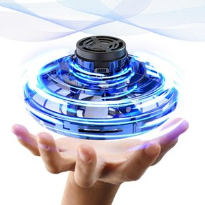 360 Rotating Mini UFO Tricked-Out Flying Spinner Boomerang Relaxing Toys Drones Flynova with USB Charging and LED Lights