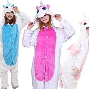 3 farbe einhorn pyjama set frauen männer unisex tier pijama flanel onesie unicornio schläfrelwäsche hoodie halloween cosplay kostüm