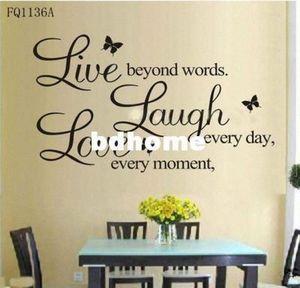 B винила жить каждый момент, Смейтесь каждый день, Любовь Beyond WordsWall Quote DYkf #
