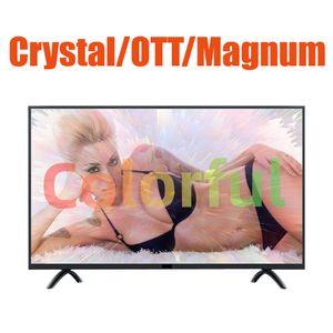 Magnum Ott Crystal LxTream Link M3U Smart TV Pantalla de adulto XXX Venta caliente árabe francés Alemania España Estados Unidos Canadá 1 año de garantía Protector