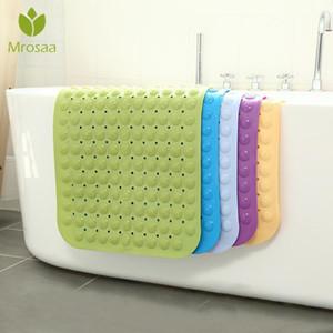 2020 Large forte sucção Banho Mat Anti Slip Bath Shower Mat PVC Massagem Partículas Foot Bath Pad Inodoro Non-Toxic