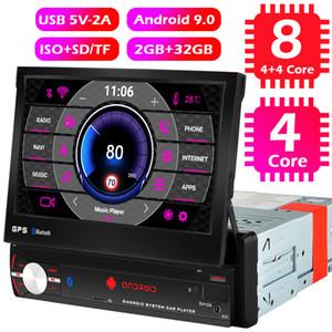 1 الدين الروبوت 9.0 سيارة راديو 1DIN GPS WIFI 8 الأساسية 4G ستيريو Autoradio 7 بوصة قابل للسحب الشاشة بلوتوث فيديو لاعب الوسائط المتعددة