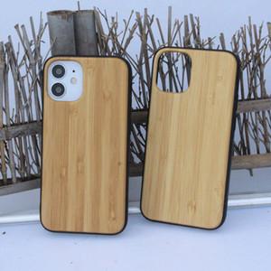 حالة الهاتف لفون 12 11 ميني برو MAX XS XR 7 8 زائد SE 2 الخيزران خشبية الغطاء الخلفي قذيفة شعار مخصصة