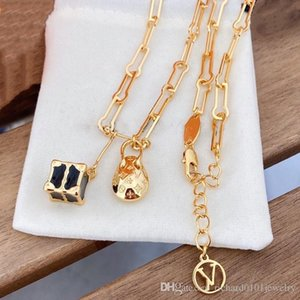 Luxury Designer Jewelry Women Necklace Cube and Egg Pendant Copper with Gold Plated Thick Chains Lock Heart necklace for men fashion Jewelry