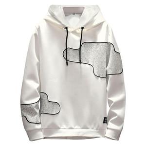 Herren Casual Loose Track Hoodie Vintage Farbe Block Streetwear Männer Harajuku Hip Hop Casual Fleece Pullover Mit Kapuze Hoodie