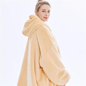 Открытый толстовка с капюшоном Hoodie Одеяло теплые пальто толстые флисовые телевизор одеяло бросить взвешенный пуловер для мужчин и женщин1