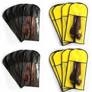 Bolsa de armazenamento de peruca não-tecida 29 * 60 cm preto branco cabelo vermelho beleza peruca durable durable pó à prova de poeira portátil terno pequeno capa bolsa 231 N2