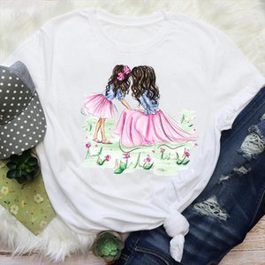 Women Mom Mama Happy Time Clothing Casual Mother Love Cartoon Graphic Tees Clothes Print Tops Lady Female T Shirt T Shirt