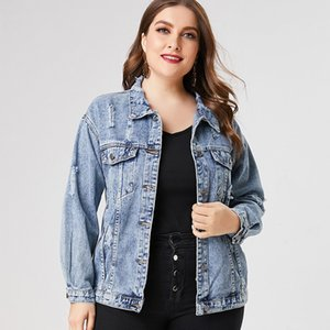 Spring Plus Size Denim jacket woman ladies fashion jean coats and jackets 201007