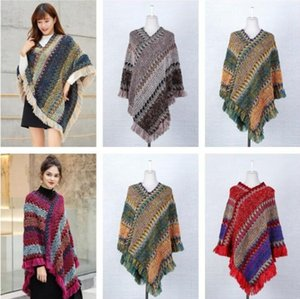 Spring and Autumn Cape Knitted Pullover Tassel Scarf Shawl Women's Long Shawl Coats warmth Imitation Cashmere Scarf Decoration LSK1459