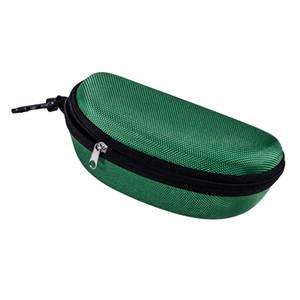 HOT Oxford tissu lunettes noires cas de boîte de protection lunettes crochet cas Zipper lunettes de soleil paquet de lunettes accessoires EEE2649