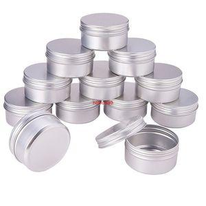 100PCS 5g 10g 15g 20g 30g 40g 50g 60g Aluminum Tin Jars Metal 50ml Empty Cosmetic Face Care Eye Cream Lip Balm Gloss Packagingpls order