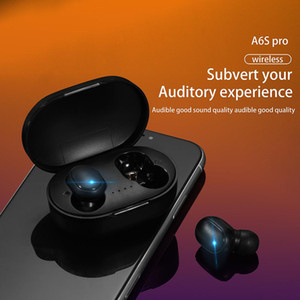 Original A6S TWS Bluetooth Earphone Headphone Bluetooth 5.0 Wireless Earbuds Life Waterproof Bluetooth Headset with Mic for all Goophones