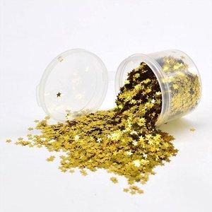 10g 3mm Glitter Mini Yıldız Akrilik Parlak Altın Gümüş Yıldız Pul Tırnak Sanat Confetti Düğün Parti Dekorasyon Balon Konfeti için