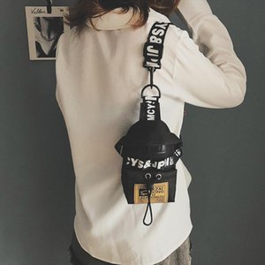 ZDARLBO Frauen Fanny-Pack Brief Brusttasche Hip Hop Banana Gürteltasche Mini Schulter Umhängetaschen Female Nylon Hüfttaschen