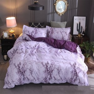 Stone Pattern Bedding Set Plain Multi Colour Simplicity Quilt Cover Pillow Case Queen Bed Comforters Sets New 42xq K2