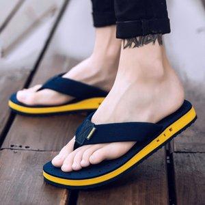 Xmistuo yaz Kore büyük boy gelgit terlik erkekler kaymaz serin flip-flops nefes kalın tabanlı sandalet terlik toe sandalet T200408