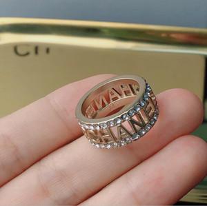 2021New High-End-Custom Brief Ring Goldener wilder einfache und moderner Hohlring