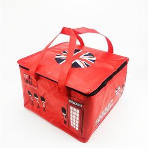 Yeniden kullanılabilir dokuma olmayan soğutucu çanta kek bir pizza taze sıcak taşıyıcı serin çanta ısı yiyecek içecek yalıtım torbaları BWSH08 Q1104