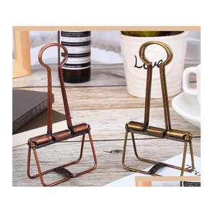 bronze skeleton binder clips hollow out long paper photo clip planner notebook clipers for home office school stationery b2VFN