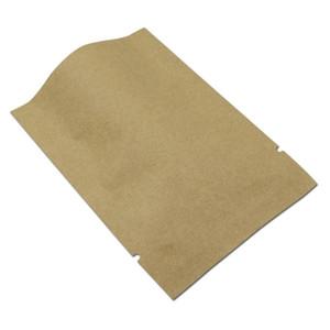 69cm 200pcs Lot Brown Open Top Kraft Paper Aluminum Foil Package Bag Food Candy Nuts Heat Seal Storage Mylar Packing Pouch H sqcFBM