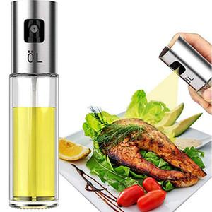 Speiseöl Sprayer Push Button Chuck Menage Olivenöl Pump Edelstahl Backen Öl-Zufuhr-Küche-Werkzeug IIA719