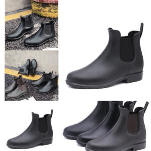 SZG73 أحدث الشتاء الأسود زلة النساء الفخذ أحذية عالية ff أحذية المطر التمهيد كعب سميك فوق الركبة الأحذية عالية الجودة الكبار