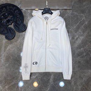 20ss 크롬 CH 하트 모호 스크롤 교차 지퍼 스웨터 남성과 여성의 카디건 재킷 S- XL