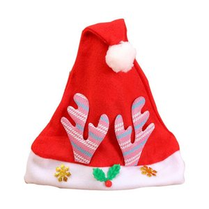 New Christmas Ornaments Christmas Hat Antler Cap For Children Women Men Boys Girls Christmas Party Props Costume Xmas Decoration wmtRRh