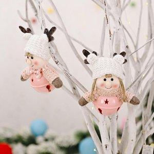 Cute Christmas Doll Decorations Antlers Kids Bell Pendants Boys Pendants Girls Bell Christmas Doll Pendants.