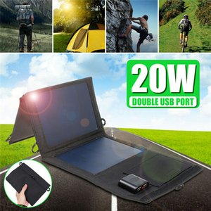 Areyourshop Home 20W 25W Solar Panel Foldable Power Bank Panel Camping Hiking Phone Charger Tool Electrical appliances Parts