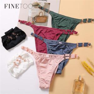 FINETOO Seamless Schlüpfer-Unterwäsche-Frauen Thong Spitzen-Tanga Frauen Sexy Briefs G String Unterhos String T-back für Mädchen