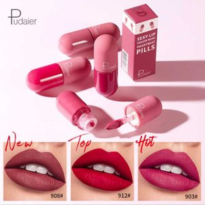 Pudaier 18 renk kapsül ruj mat ruj dudak makyaj uzun sıvı lipkit küçük hap dudak ruj su geçirmez kadife kalıcı