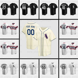 Bo Jackson 45 Michael JD Todd Frazier kundenspezifischen Männer Jersey Tim Anderson 10 Yoan Moncada Weiß 79 Jose Abreu LUIS ROBERT Baseball-Shirts