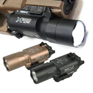 500 Lümen Yüksek Çıktı Açık Avcılık Taktik X300 Ultra Hafif X300U Taktik Hafif Lanterna Fener 1911 Işık