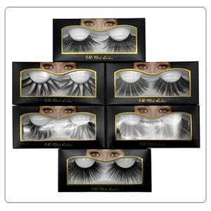 6D 25mm Kirpikleri% 100 Hacim Doğal Uzun Saç 3D Vizon Yanlış Eyelashes Uzatma Sahte Kirpik Makyaj Vizon Kirpikleri Paketi 50 çift