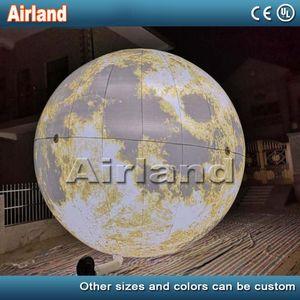 عيد الحب 2M 3M 5M ديا نفخ الكرة القمر، بالون القمر مع ضوء أدى لنادي بار صالة عرض نموذج قابل للنفخ
