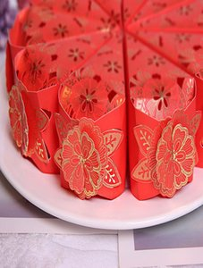 100pcs Lot Hollow Flower Cake Wedding Candy Box Wedding Favors And Gifts Craft Paper Box For Event Party Decoration Supplies H wmtODX