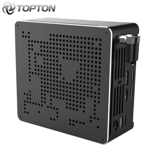 Topton 10 Gen Nuc Intel 10750H i9 9880H Xeon 2286M Mini PC 2 Lans Win10 2 * DDR4 2 * NVMe Gaming computador desktop 4K DP HDMI2.0